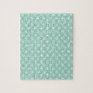 Cyan With Simple White Dots Jigsaw Puzzle
