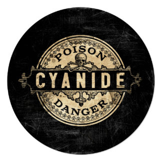 Cyanide Vintage Style Poison Label Card