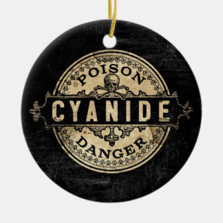 Cyanide Vintage Style Poison Label Ceramic Ornament