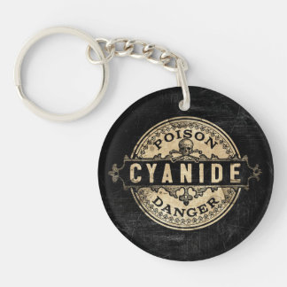 Cyanide Vintage Style Poison Label Keychain