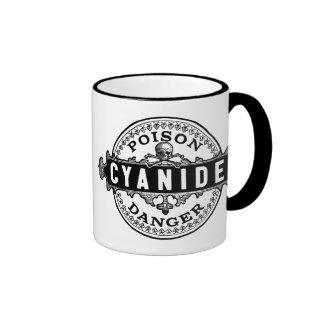 Cyanide Vintage Style Poison Label Ringer Mug