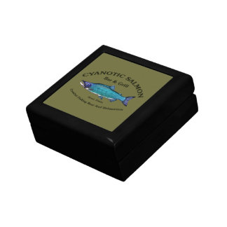 Cyanotic Salmon Bar & Grill Jewelry Box