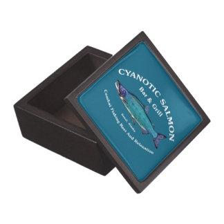 Cyanotic Salmon Bar & Grill Keepsake Box