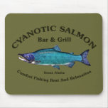 Cyanotic Salmon Bar & Grill Mouse Pads