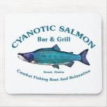 Cyanotic Salmon Bar & Grill Mousepad