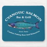 Cyanotic Salmon Bar & Grill Mousepads