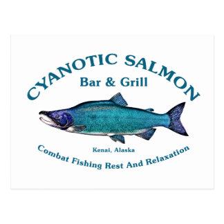 Cyanotic Salmon Bar & Grill Post Card