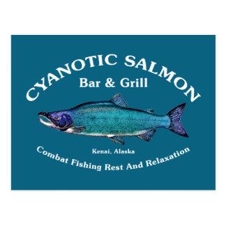 Cyanotic Salmon Bar & Grill Postcards