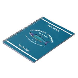 Cyanotic Salmon Bar & Grill Spiral Notebook
