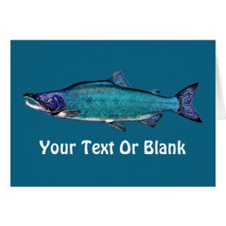 Cyanotic Salmon Greeting Cards