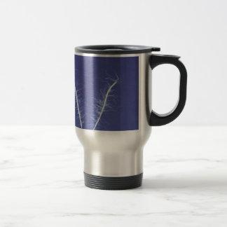 cyanotype de líneas en #3 azul y blanco tazas de café