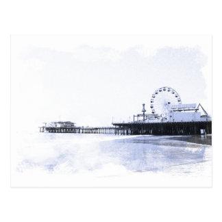 Cyanotype Santa Monica Pier Postcard