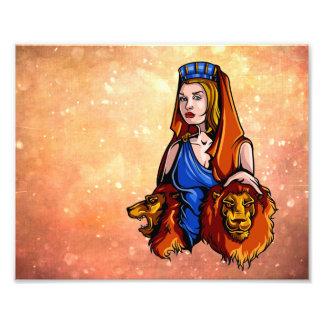 Cybele la diosa de la naturaleza con dos leones fotografías
