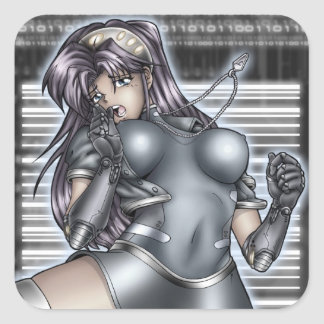 Cyber Anime Girl Stickers