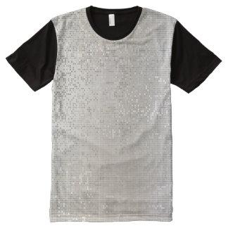 Cyber Binary IT Silver Black Design All-Over-Print Shirt