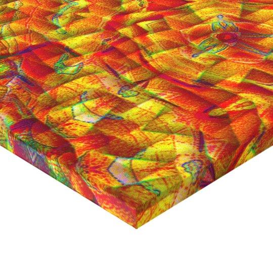 Cyber-Braid Geomatrix Mandala Canvas Print