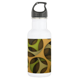 Cyber camouflage background stainless steel water bottle