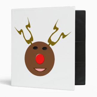 Cyber Christmas Reindeer Binder
