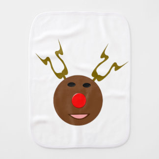 Cyber Christmas Reindeer Burp Cloth