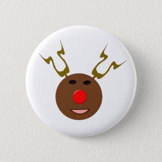 Cyber Christmas Reindeer Button