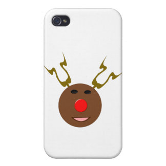 Cyber Christmas Reindeer  Case For iPhone 4