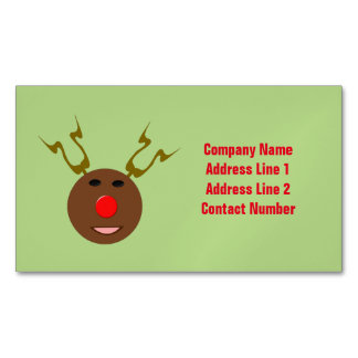 Cyber Christmas Reindeer Custom Business Cards