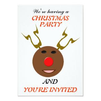Cyber Christmas Reindeer Custom Party Card