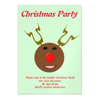 Cyber Christmas Reindeer Custom Party Invite