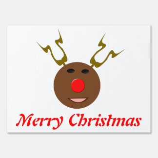 Cyber Christmas Reindeer Custom Yard Sign