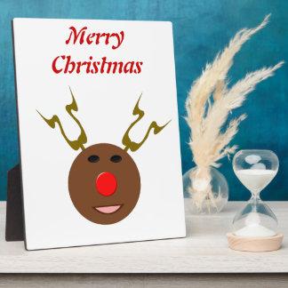 Cyber Christmas Reindeer Customizable Plaque
