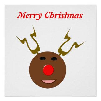 Cyber Christmas Reindeer Customizable Poster
