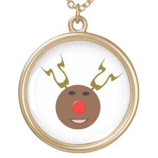 Cyber Christmas Reindeer Necklace