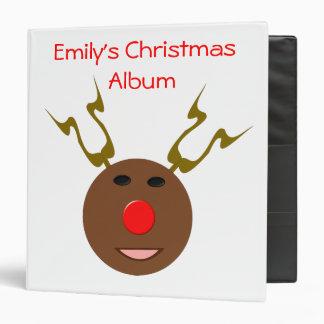 Cyber Christmas Reindeer Photo Album Binder