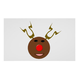 Red Nosed Reindeer Posters | Zazzle