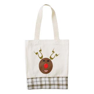Cyber Christmas Reindeerl Tote Bag