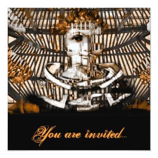 Cyber classic masquarade party invitation