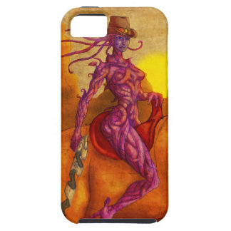 Cyber cowgirl sheriff iPhone 5 case