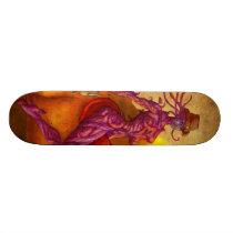 Cyber cowgirl sheriff skateboard