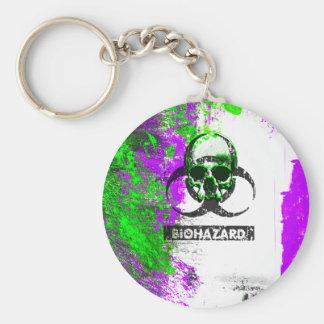 Cyber Death Goth Grunge Art Basic Round Button Keychain