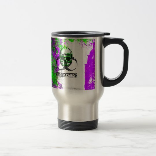 Cyber Death Goth Grunge Art Travel Mug
