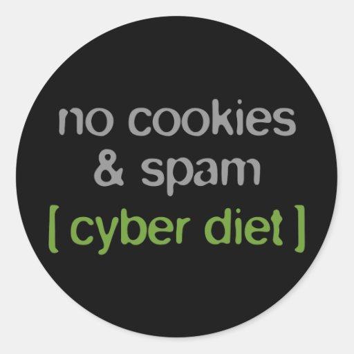 Cyber Diet - No Cookies & Spam Classic Round Sticker
