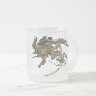 Cyber Dragon Frosted Glass Coffee Mug
