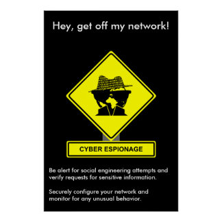 Cyber Espionage Security Awareness Poster