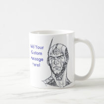 technology, future, man, drawing, cell, phone, video, monster, al rio, male, Mug with custom graphic design