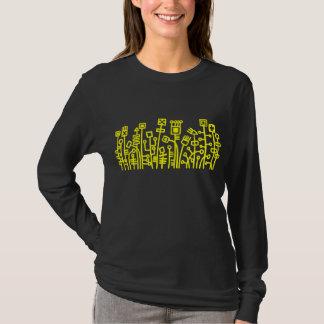 Cyber Garden - Yellow on Dark T-Shirt