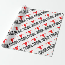 Cyber Girl & Bull Wrapping Paper
