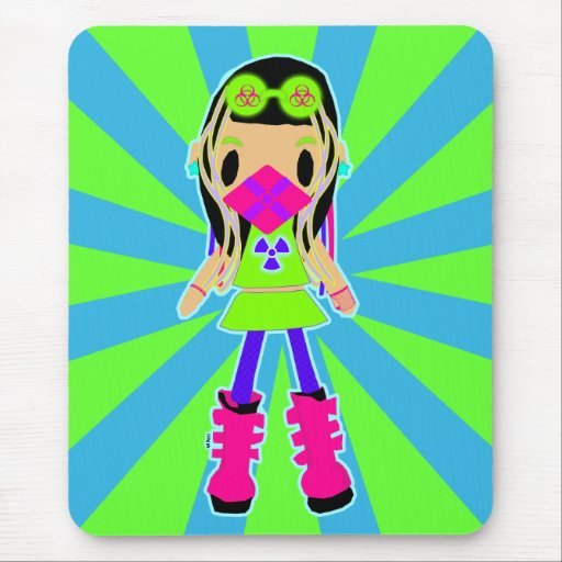 Cyber Girl X Mouse Pad