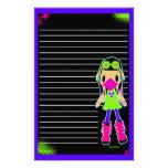 Cyber Girl X Stationery