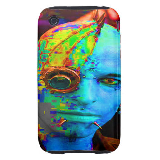 cyber goth tough iPhone 3 cover