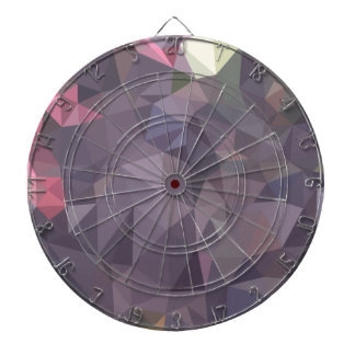 Cyber Grape Purple Abstract Low Polygon Background Dart Board